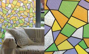 Raamfolie Mozaiek Color